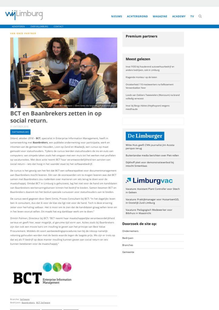 publicatie bct en baanbrekers zetten in op social return